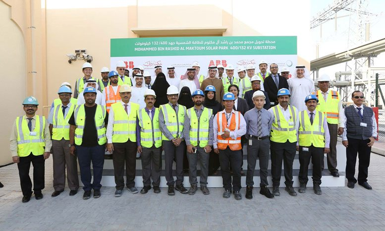 Inaugurations of the 400/132 kilovolt (kV) substation at the Mohammed bin Rashid Al Maktoum Solar Park (supplied)