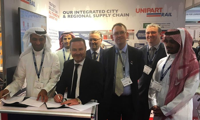 Unipart Rail & Arabian Railway MoU signing off (source: ME Construction Index)