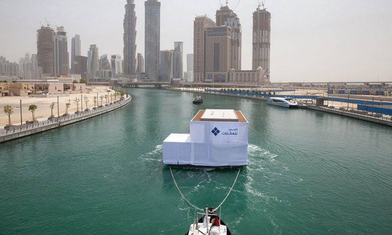 In pictures: First floating homes on way to Dubai's Marasi Business Bay
