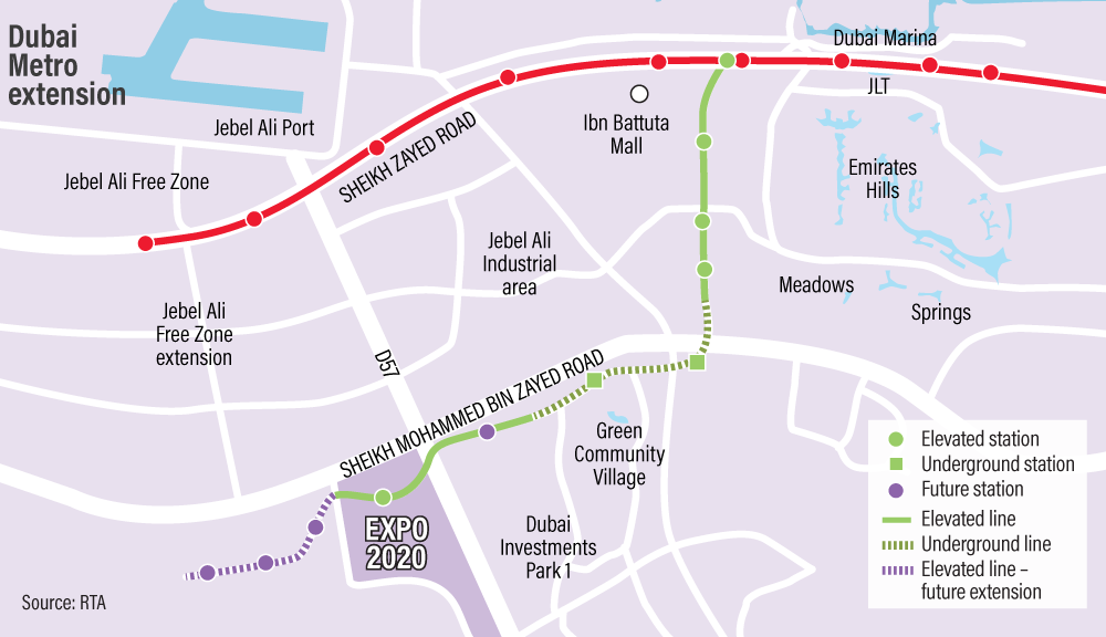 In Pictures: RTA issues update on Dubai Metro Route 2020 | Middle ...