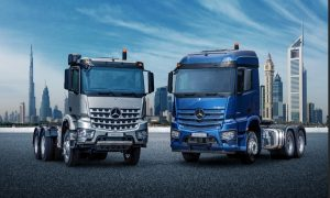 Video: The new Actros and Arocs take on the desert