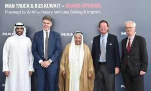 Kuwait's Al-Ahlia opens flagship showroom and service centre for MAN Truck & Bus