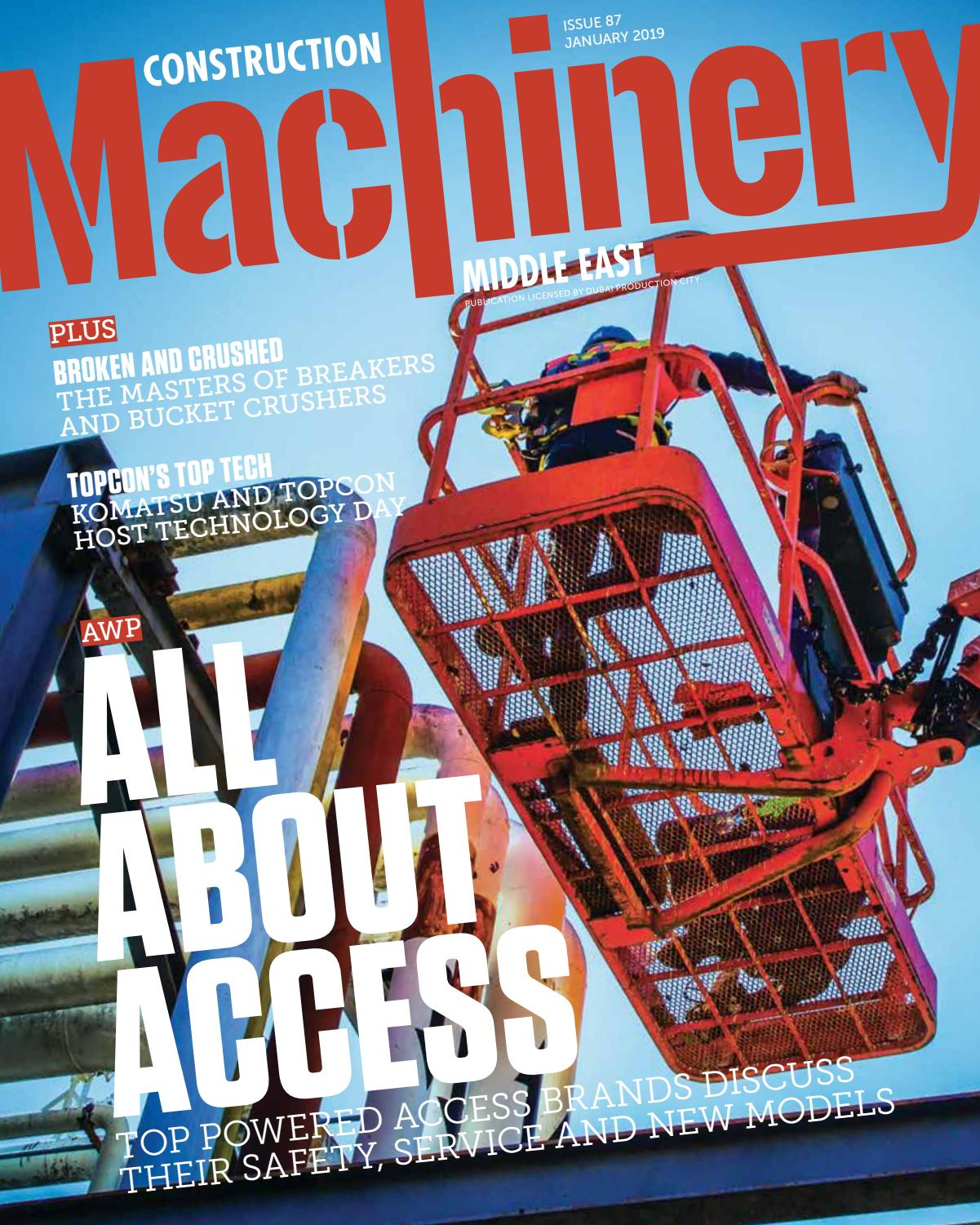 Construction Machinery ME – January 2019