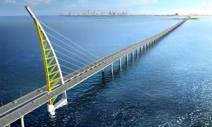 37.5km SJSC bridge is a 'landmark' of the 2035 New Kuwait vision