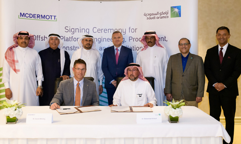 Saudi Aramco signs agreement with McDermott Arabia for new