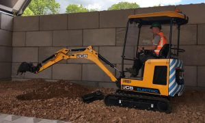 JCB's starts production of first electric excavator