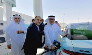 Air Products and Saudi Aramco opens first hydrogen fuelling station