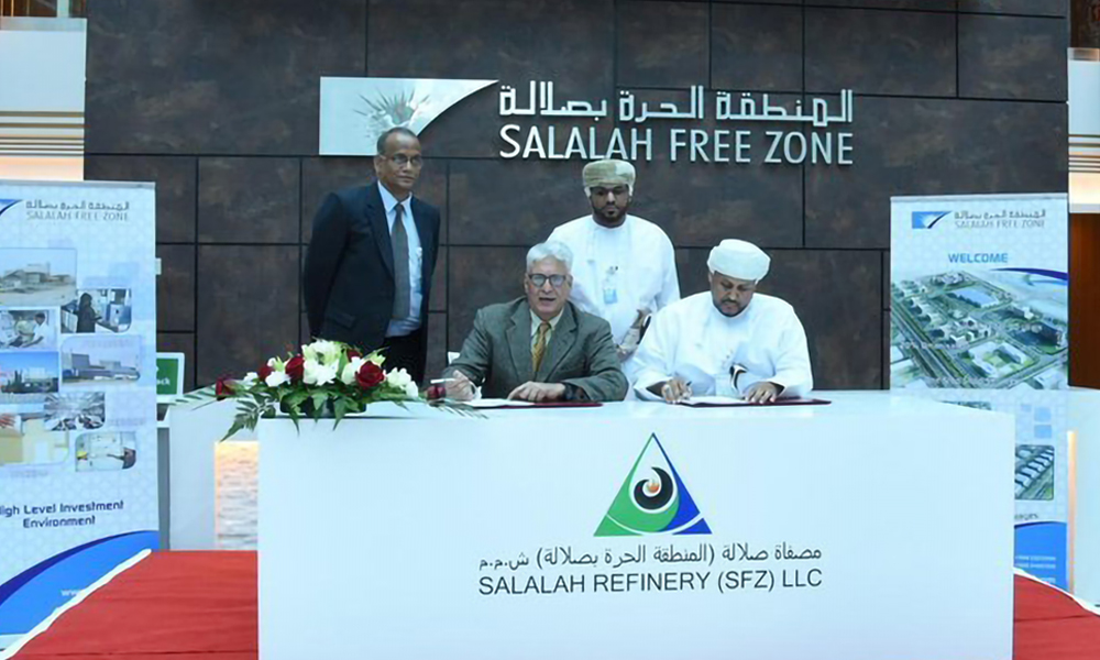Salalah Free Zone signs deals for 150,000bpd refinery