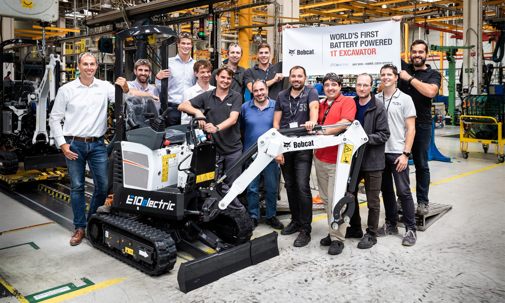 Bobcat feeling electric as first E10e comes off production line