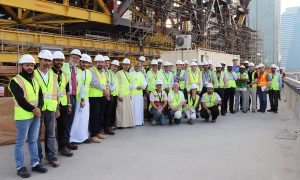 Sliding phase on world's largest cantilever begins at One Za'abeel