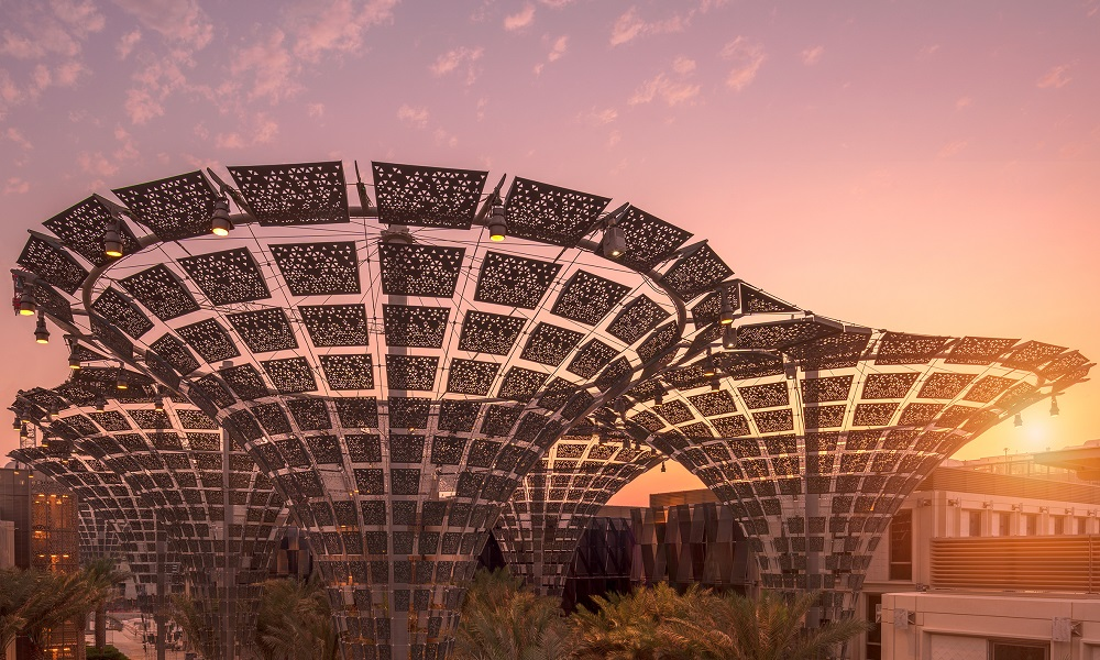 3. Expo 2020's Thematic Districts at sunset