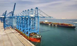 Abu Dhabi Terminals announces delivery of five STS cranes to Khalifa Port Container Terminal