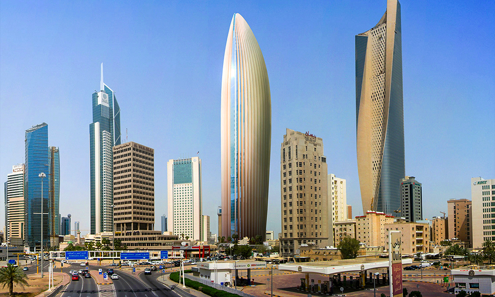 300m tall National Bank of Kuwait HQ building complete