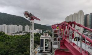 NFT deploys five Potain topless cranes for Hong Kong housing project